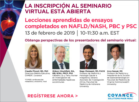 Covance: seminario virtual sobre NASH